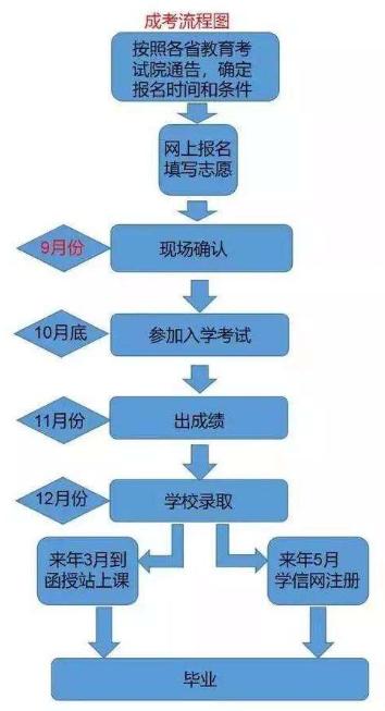 成人高考怎么报名 详细报考流程图