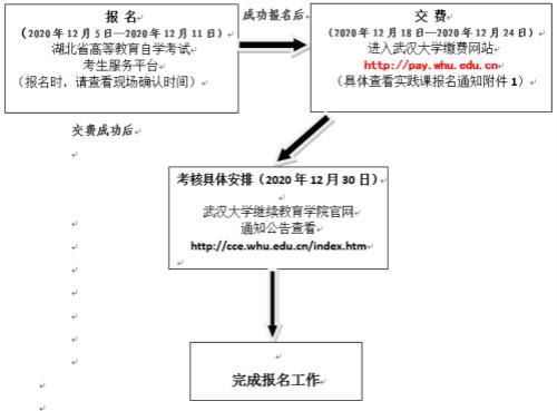 武汉大学2021年自考实践课报名时间及流程